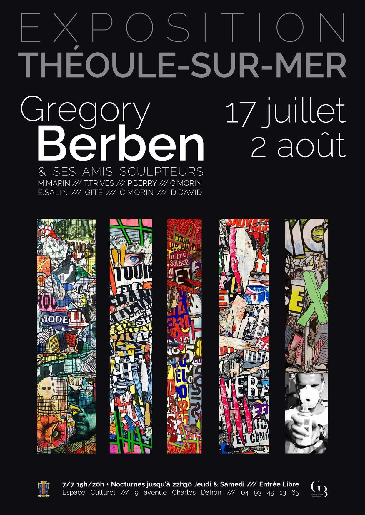 Grégory Berben 2015 Théoule Affiche Exposition
