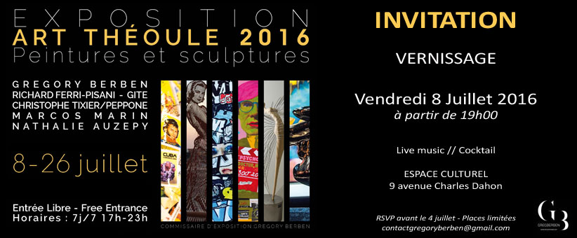 Invitation - Vernissage Théoule 2016