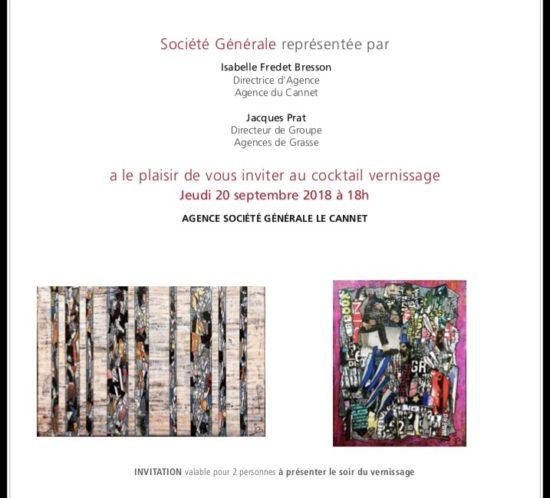 Gregory BERBEN Société Générale Le Cannet Expo - Inauguration