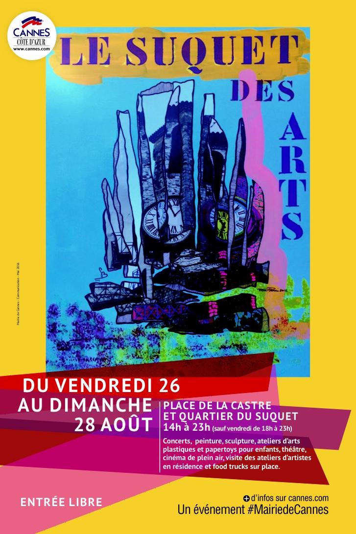 Affiche officielle Suquet des Arts 2016