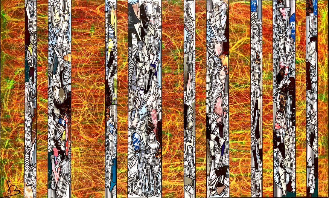 Tranches de Vie XIII 146 x 89 cm Gregory BERBEN 2018