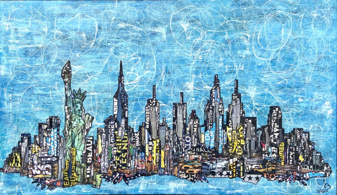 NEW YORK, NEW YORK - 195 x 97 cm - Gregory BERBEN - Octobre 2020