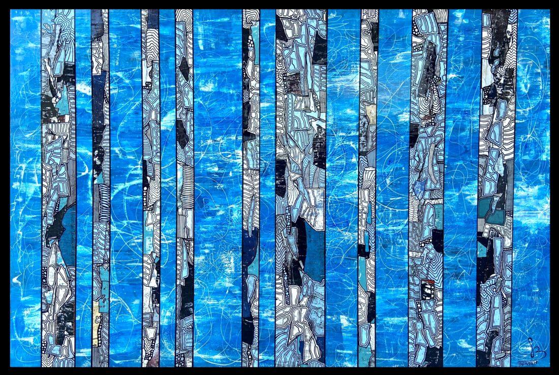 TRANCHES DE VIE #38 - 195 / 130 cm - Gregory BERBEN - Juillet 2020