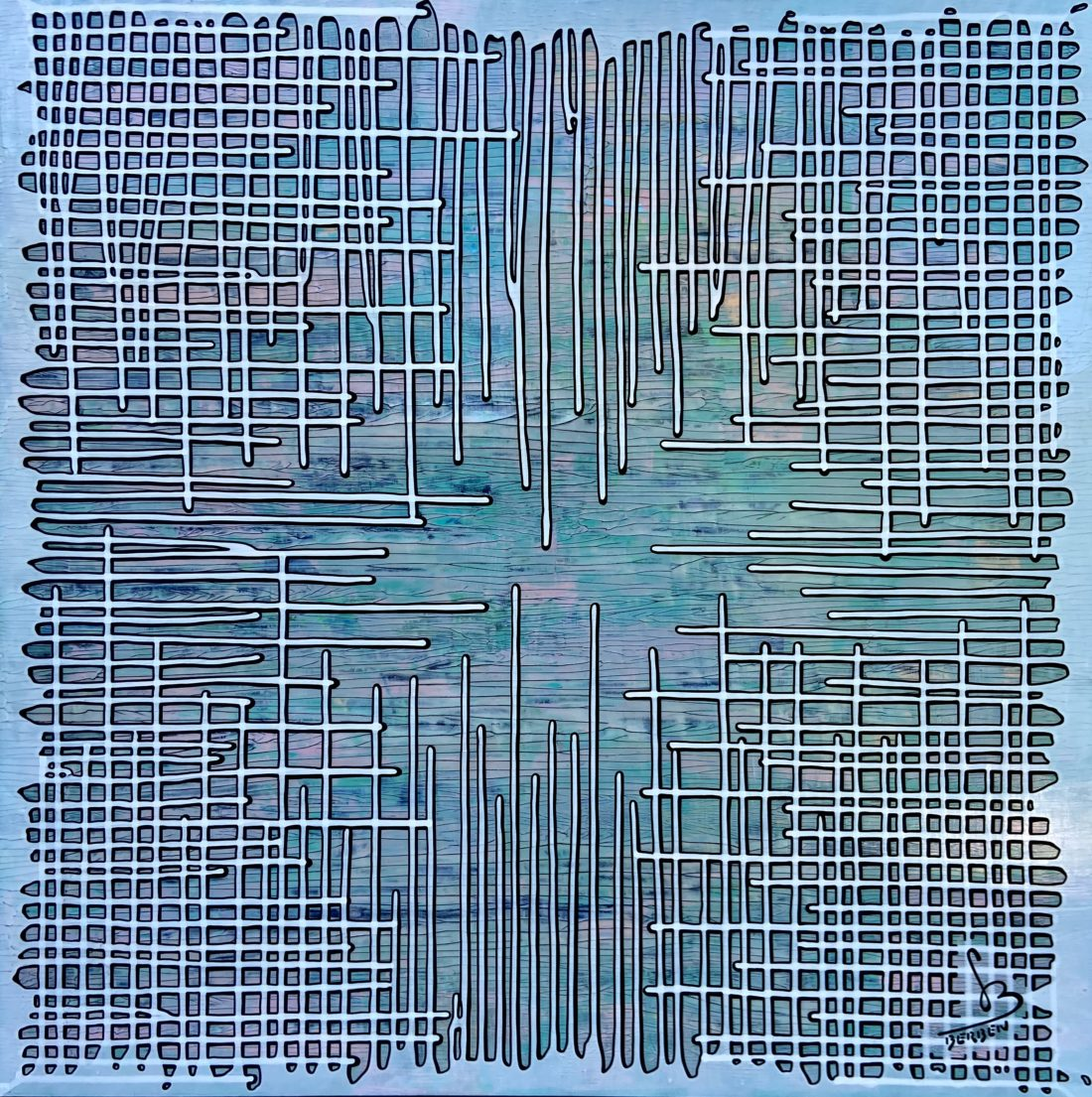 BRAINSTORMING #54 - 100 x 100 cm - Gregory BERBEN - Octobre 2020
