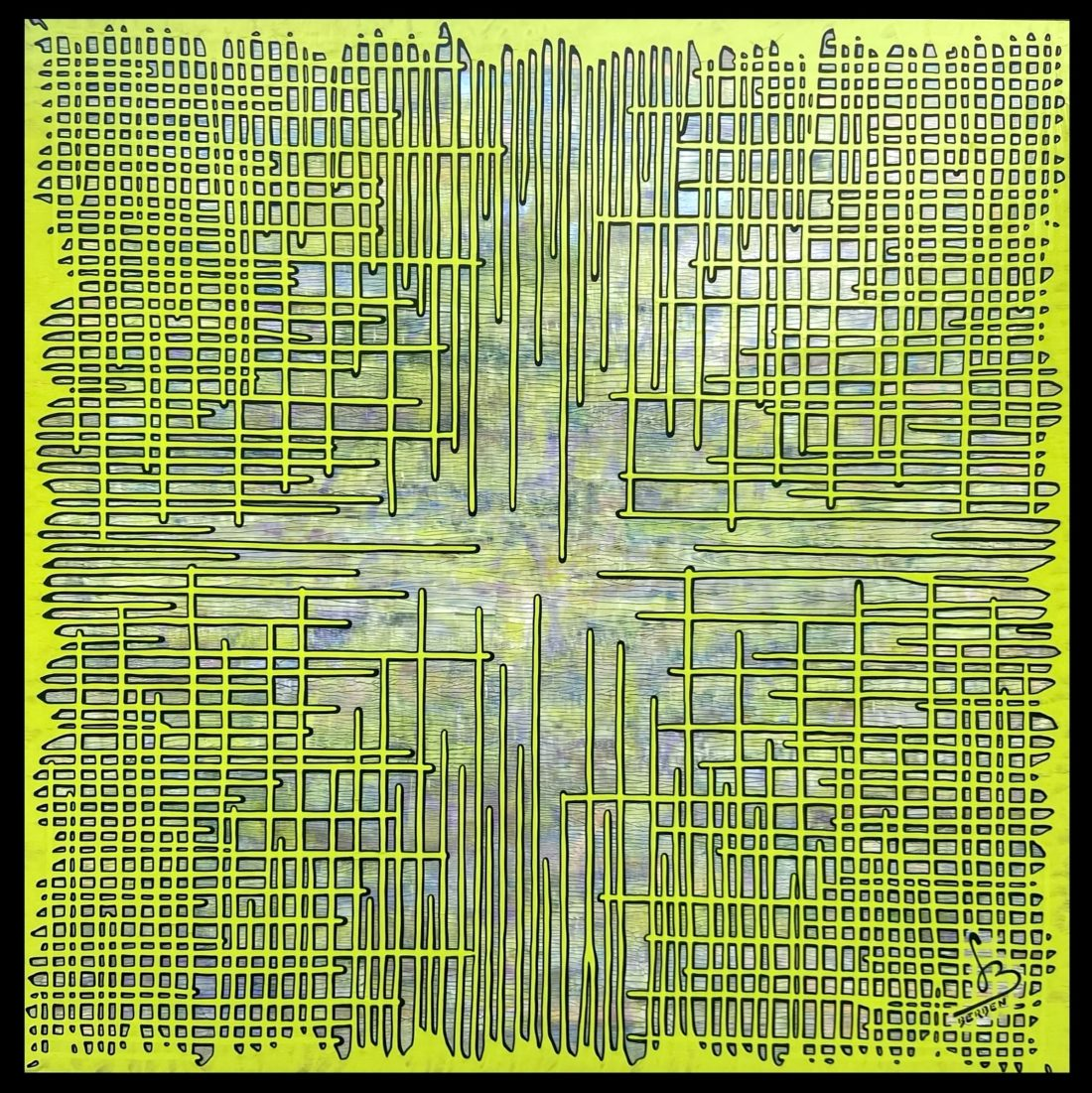 BRAINSTORMING #55 - 120 x 120 cm - Gregory BERBEN - Novembre 2020