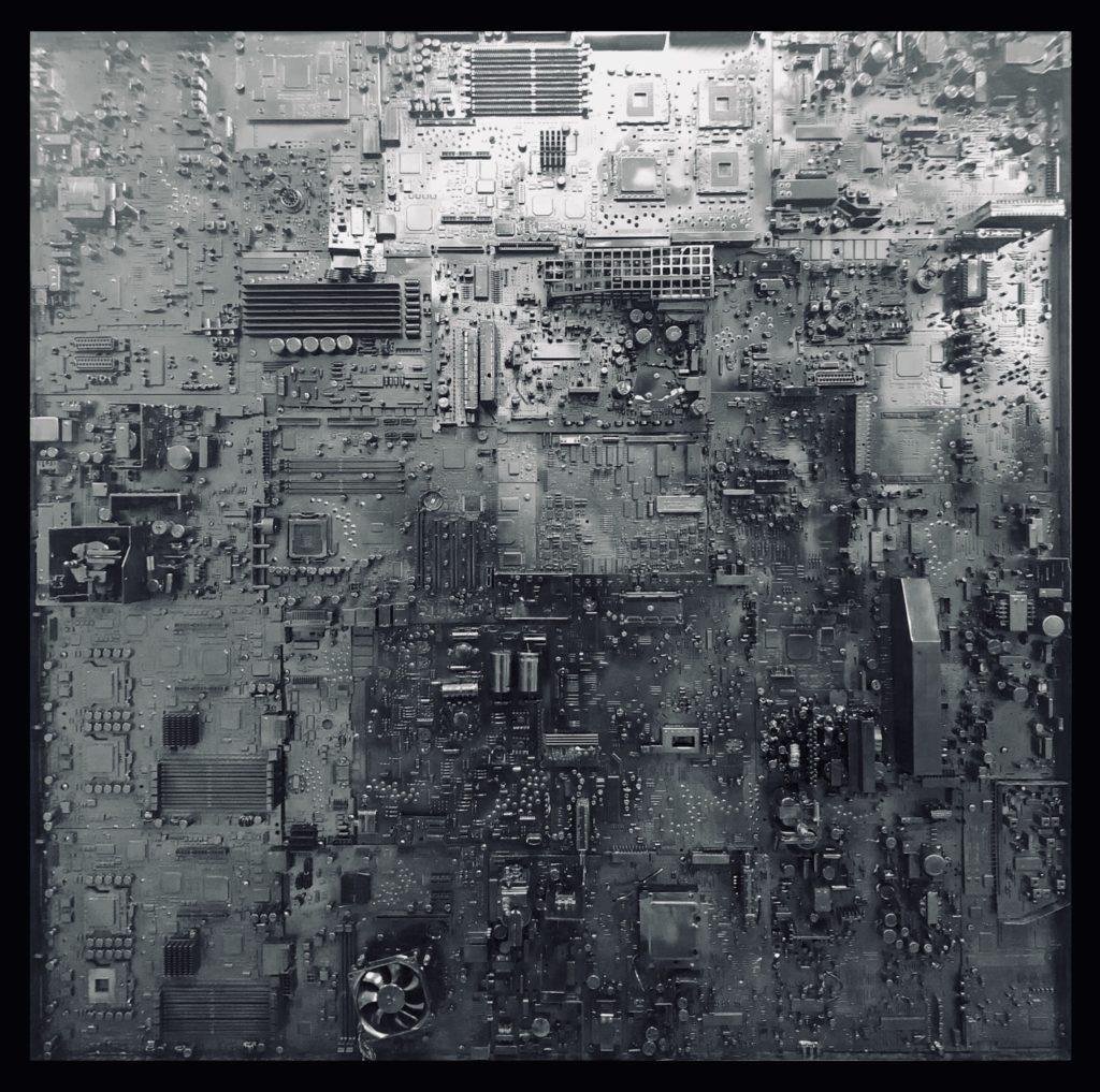 COUVRE FEU #5 - 124 x 124 cm - Gregory BERBEN - 2018
